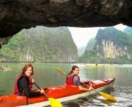 Chèo kayak trên Vịnh