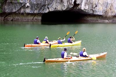 Cùng Du thuyền Dolphin Chèo Kayaking