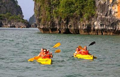 Chèo kayaking Du Thuyền Valentine